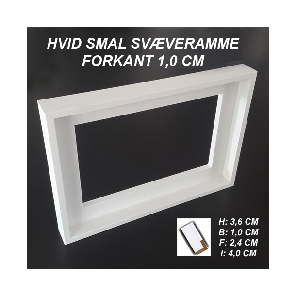 Fremragende 60x80 Svæveramme Hvid - Smal - Svæverammer - Malerkassen.dk IU92